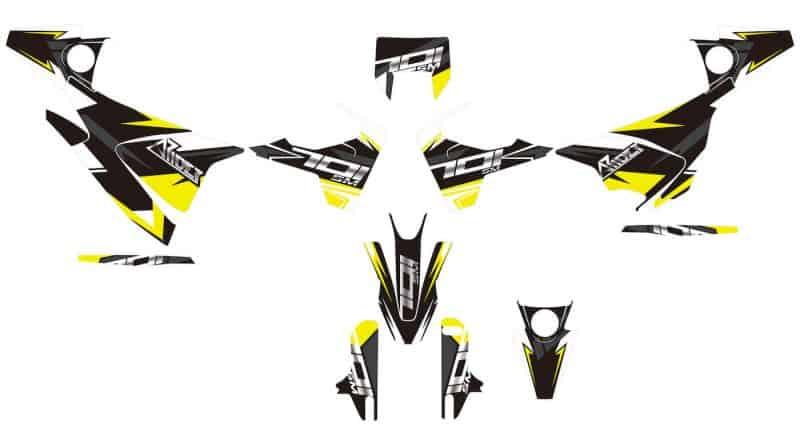Husqvarna 701 Dekor, Aufkleber Kit 2016 - 2021