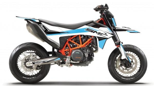 KTM 690 SMC-R Dekor Kit, Aufkleber 2019, 2020 und 2021 ARIDER Clean Design Blau