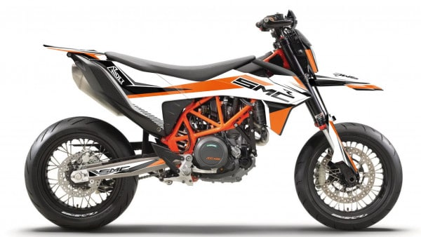 KTM 690 SMC-R Dekor Kit, Aufkleber 2019, 2020 und 2021 ARIDER Clean Design Orange