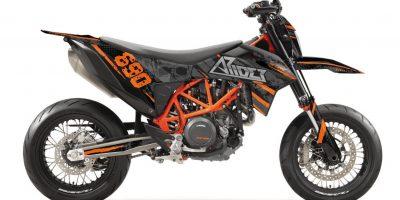 KTM 690 SMC-R Dekor Kit, Aufkleber 2019, 2020 und 2021 ARIDER Skull Design Orange