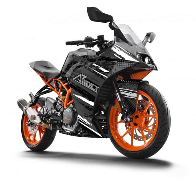 KTM RC 125 Dekor, Aufkleber Kit 2014 - 2020